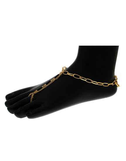 Gold Finish Adorable Anklet For Party Wear