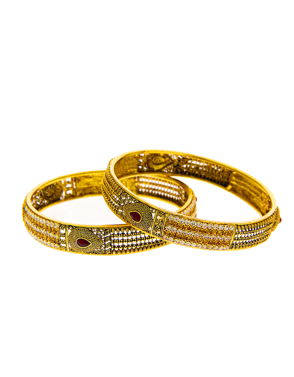 Maroon Colour Gold Finish Traditional Bangles For Party Wear