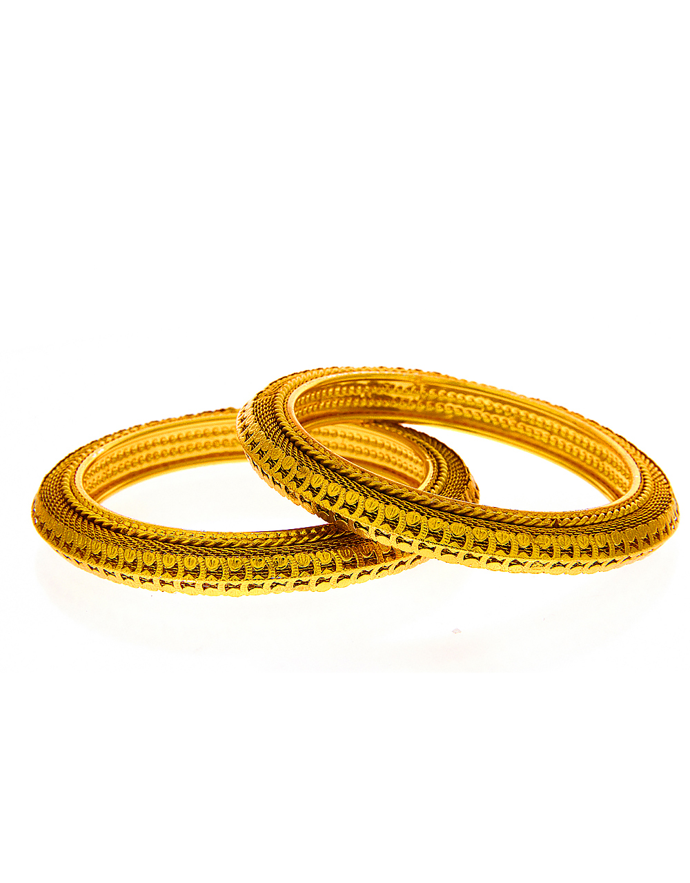 Gold Finish Designer Bangles For Wedding