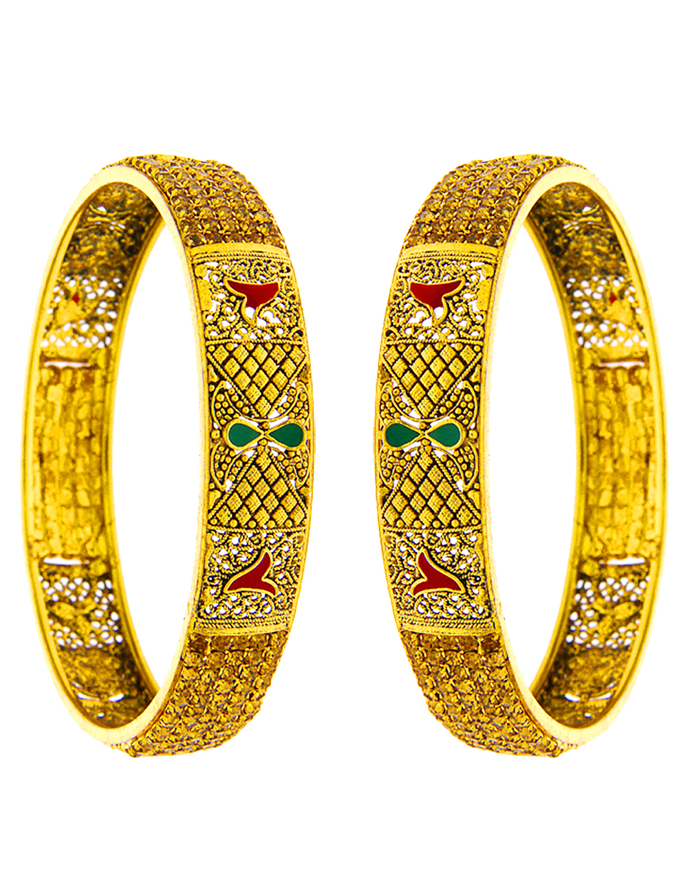 Mina Work Bangles Studded With Stones Fancy Bangles
