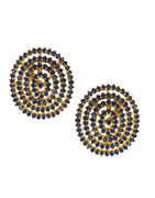 Blue Colour Gold Finish Diamond Pendant Accessories