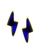 Blue Colour Gold Finish Western Wear Pendant Set