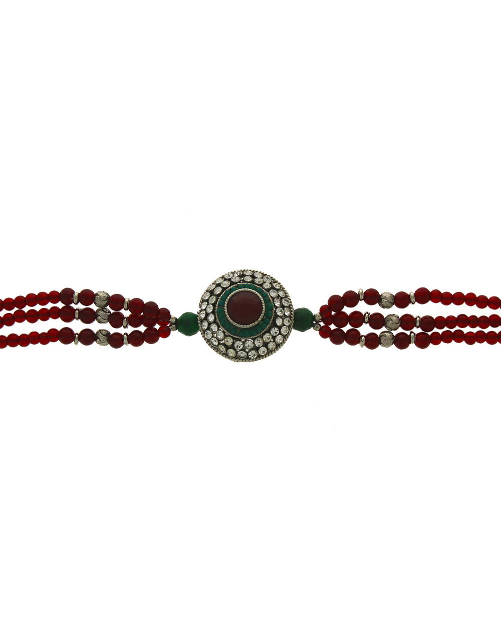 Beaded Bajuband in Classic Look for Women