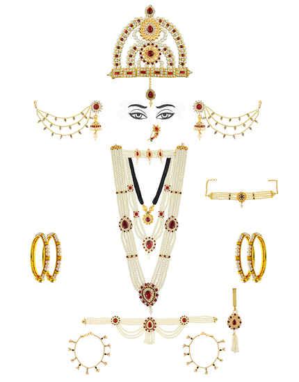 Moti Jewellery For Gauri Ganpati Combo Mahalaxmi Jewellery