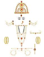 Pearls Maharashtrian Jewellery For Gauri Ganpati /Mahalaxmi Combo Set