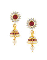 Maroon Colour Full God Jewellery/Mahalakshmi Combo Set