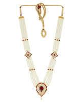 Maharashtrian Moti Haar Jewellery For Gauri Ganpati /Mahalakshmi Combo Set