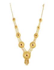 Gold Finish Red Colour Artificial Ganpati Jewellery