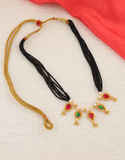 Multi Colour Black Beads Traditional Thushi