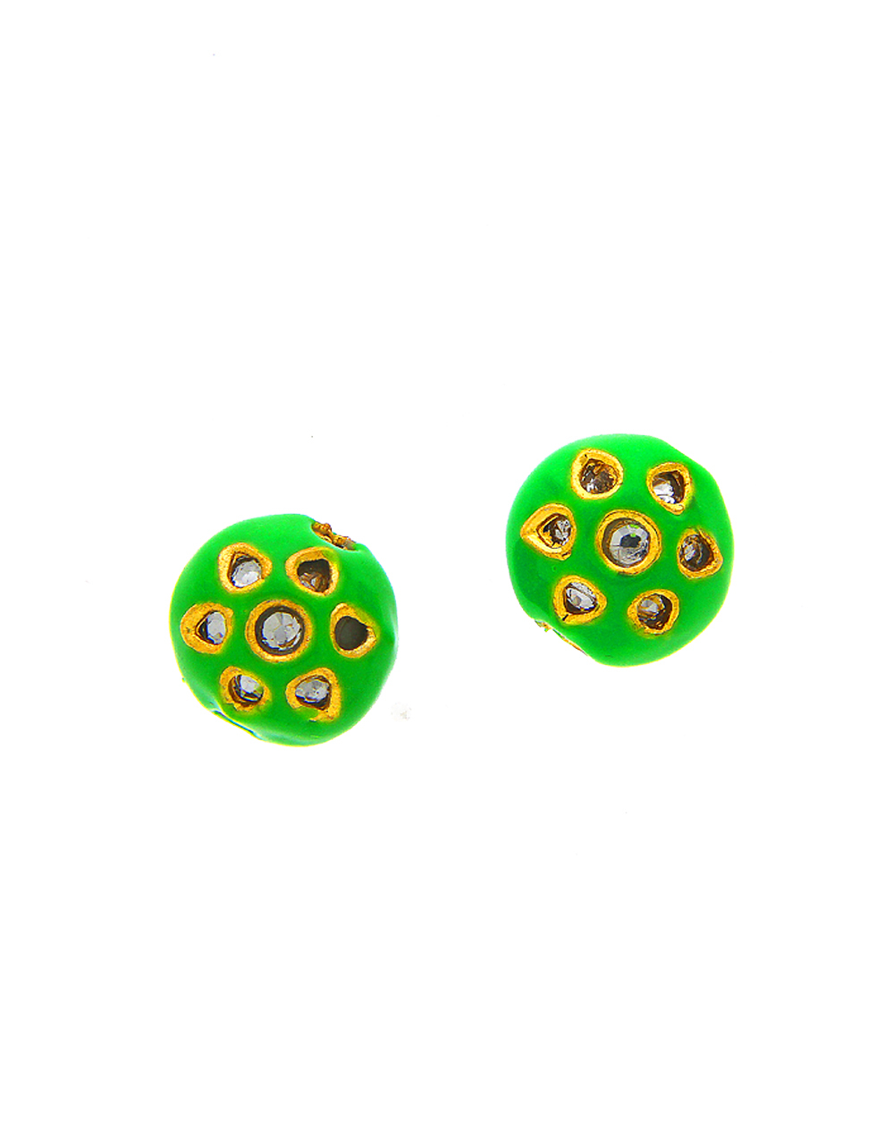 Green Colour Fancy Kundan Styled Beads Jewellery Accessories