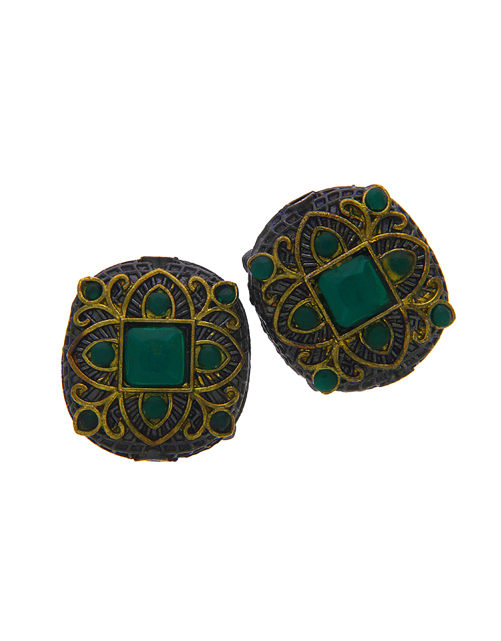 Green Colour Oxidised Beads Jewellery