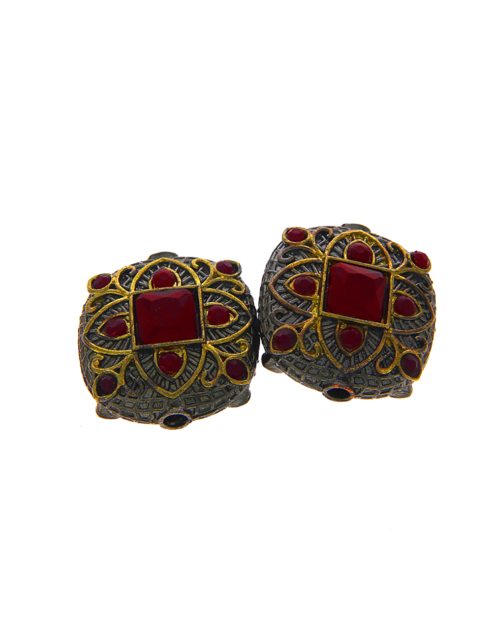 Red Colour Oxidised Beads Material