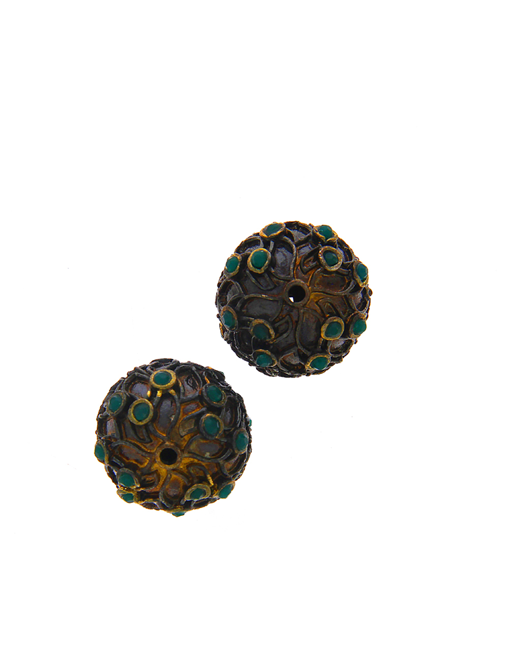 Green Colour Fancy Oxidized Beads Material Jewellery