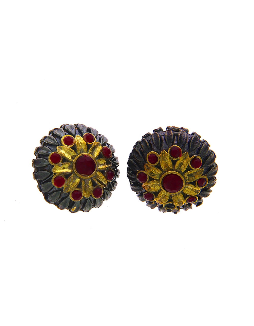 Red Colour Floral Design Oxidized Jewellery Material
