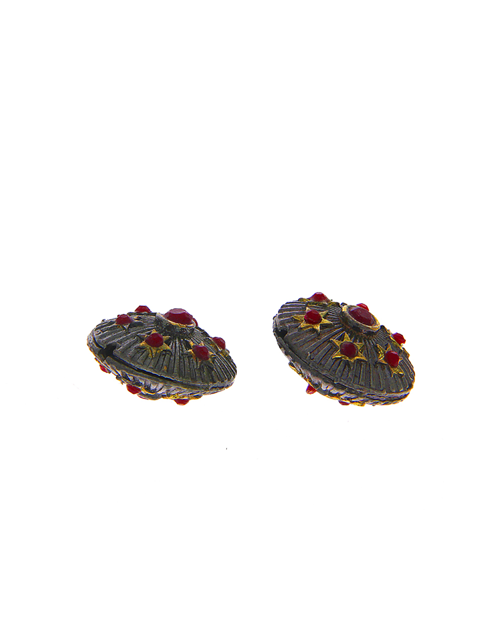 Red Colour Oxidised Beads Material Jewellery