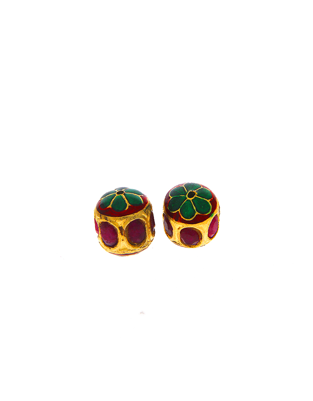 Maroon Colour Floral Design Beads Accessories