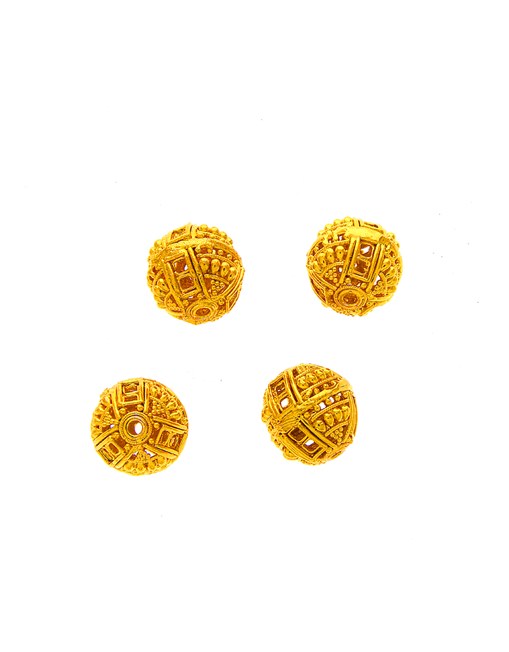 Fancy Gold Finish Golden Beads Making