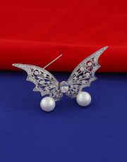 Silver Tone Stylish Brooch