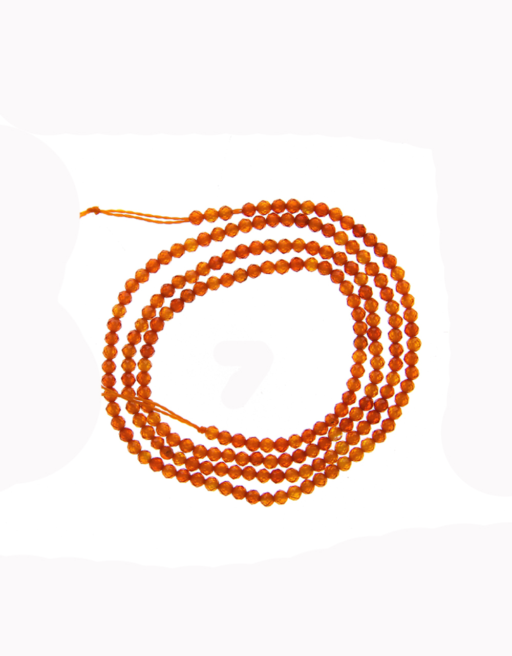 Orange Colour Fancy Cristal Mala