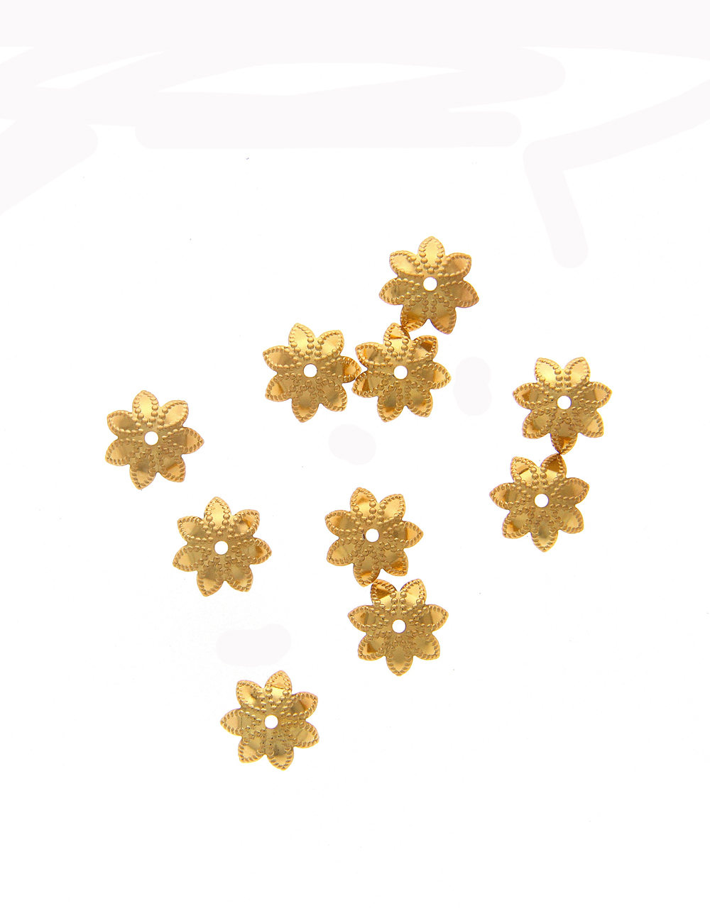 Gold Finish Floral Design Material Jewellery