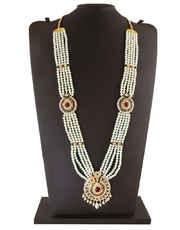 Multi Colour Gold Finish Designer Maharashtrian Pearl Jewellery