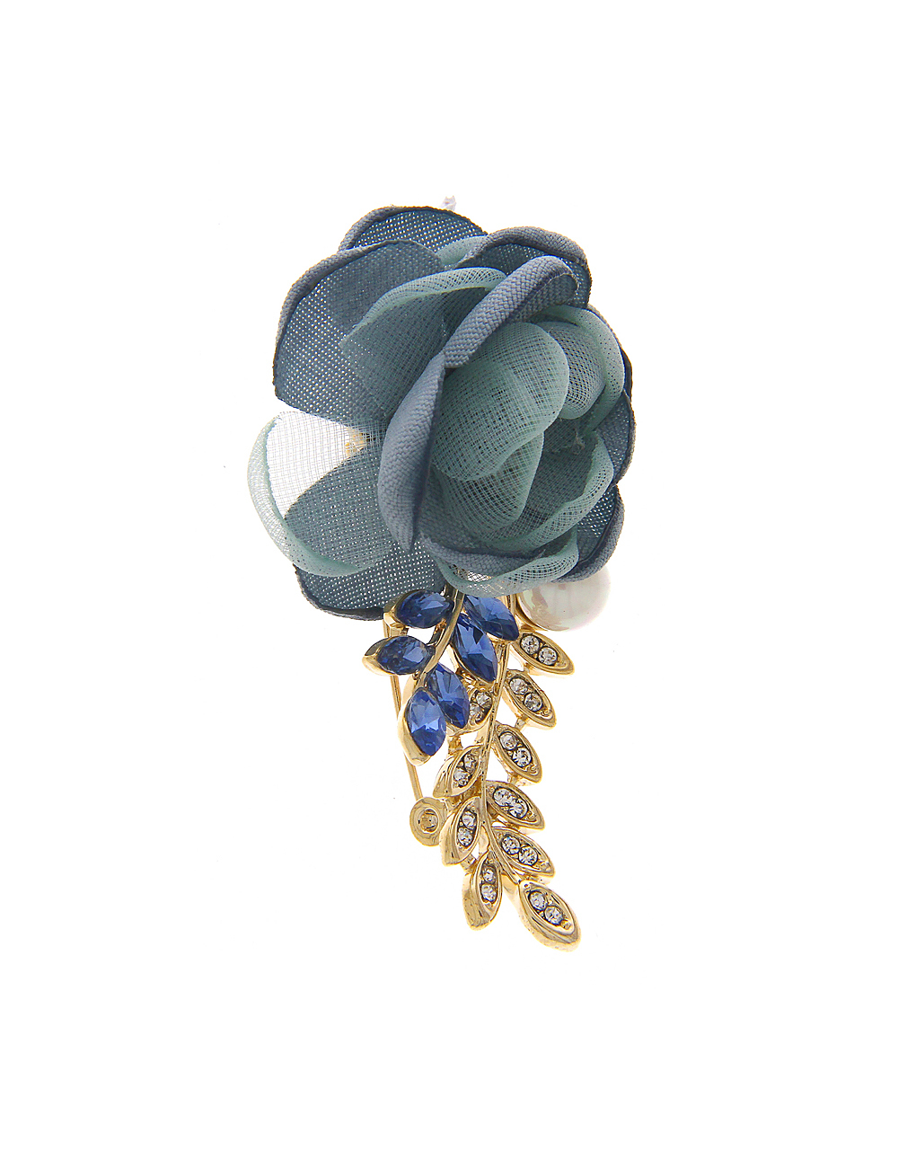 Blue Colour Brooch Styled with Sparkling Stones for Men