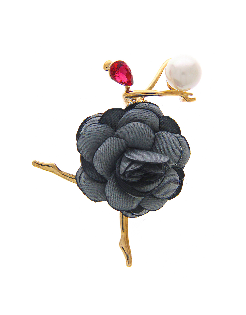 Dancing Doll Brooch in Stylish Look Embedded with Stones and Pearl