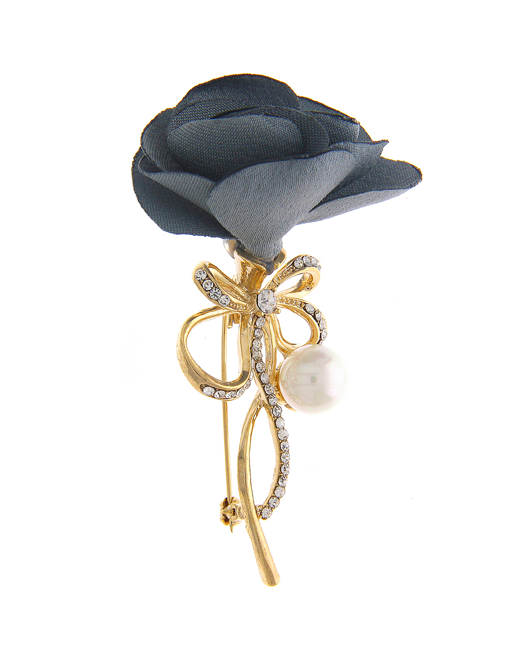 Adorable Grey Brooch in Floral Design for Men
