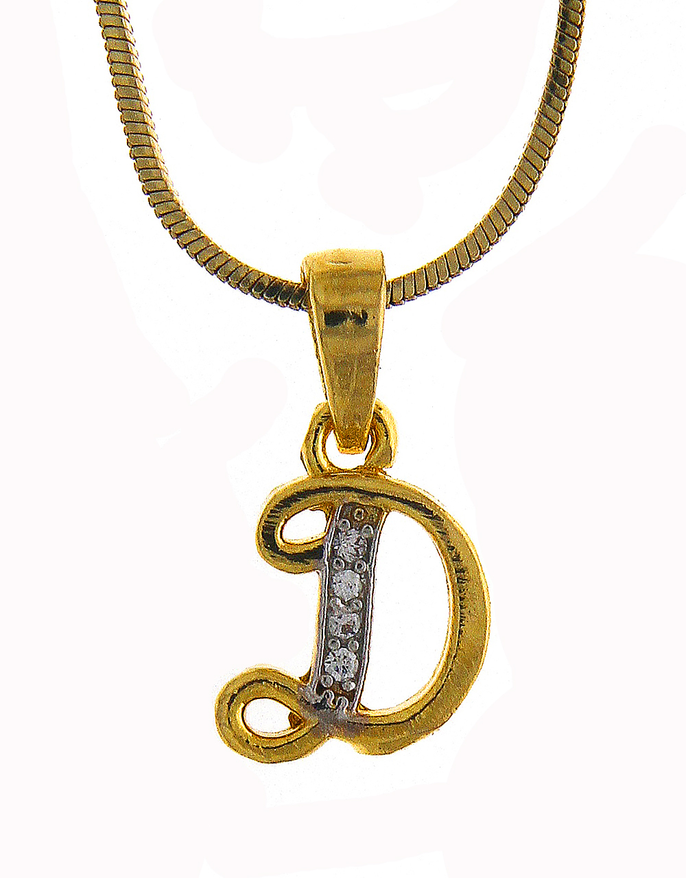 Different Design Diamond 'D' Styled Chain Pendant Set
