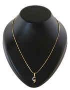 Gold Finish 'G' Styled Fancy Diamond Set