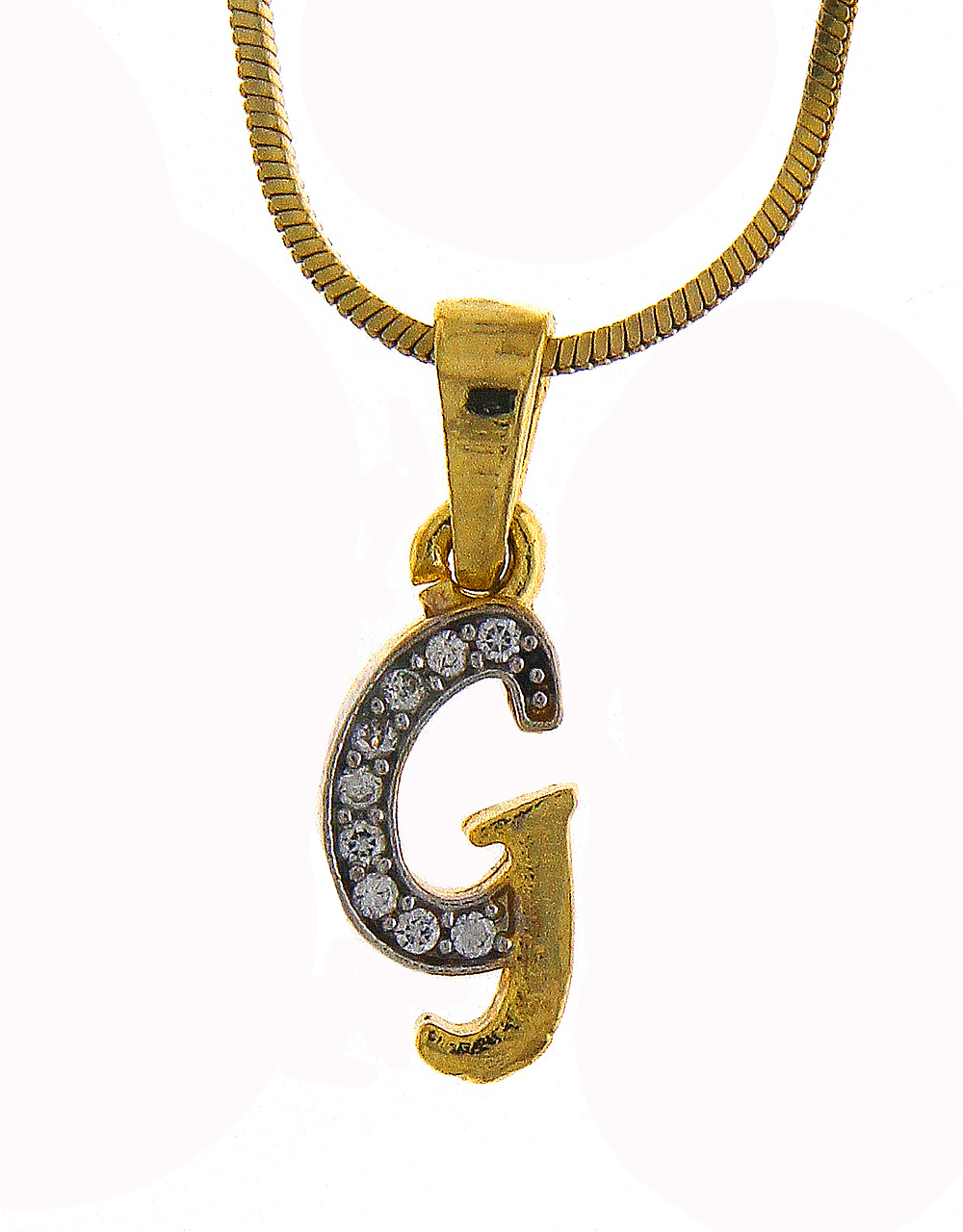 Gold Finish 'G' Styled Fancy Diamond Set