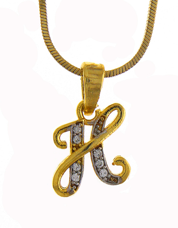 Fancy Diamond Pendant Set Styled With 'H' Jewellery