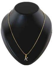 Gold Finish Fancy 'K' Styled Pendant Jewellery