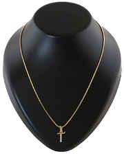 Gold Finish 'T' Styled American Diamond Pendant