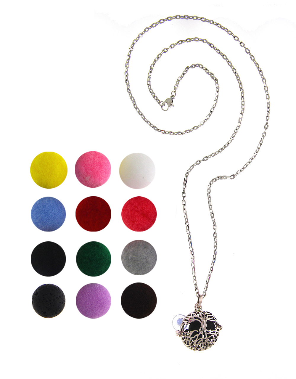 Silver Finish Fashionable Changeable Pendant Jewellery