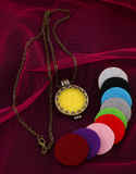 Gold Finish Oil Aromatherapy Changeable Pendant Set