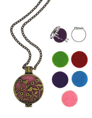 Gold Finish Floral Design Fancy Locket Pendant