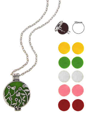 Multi Colour Fancy Chnageble Oil Diffuser Locket Set