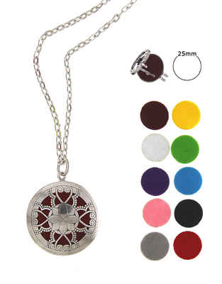 Silver Finish Multi Colour Changeble Pendant Set