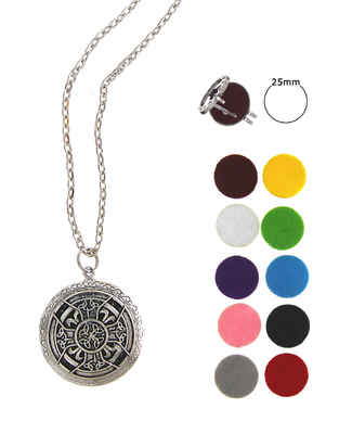 Silver Finish Designer  Multi-colour Changeable Pendant Set