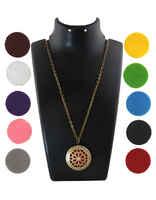 Multi-colour  Gold Finish Floral Design Fancy Locket Pendant