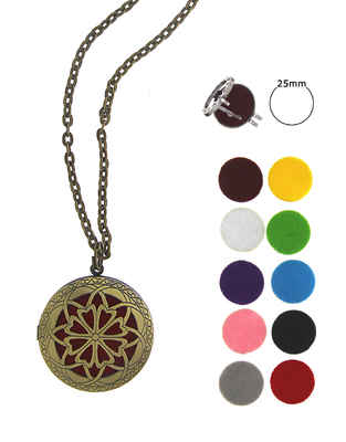 Multi-colour  Gold Finish Floral Design Fancy Locket Pendant