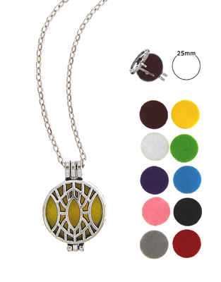 Silver Finish Designer Changeable Pendant Set