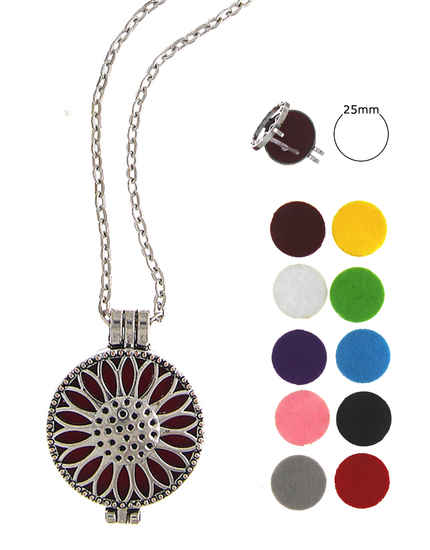 Fashionable Silver Finish Designer Changeble Pendant Set