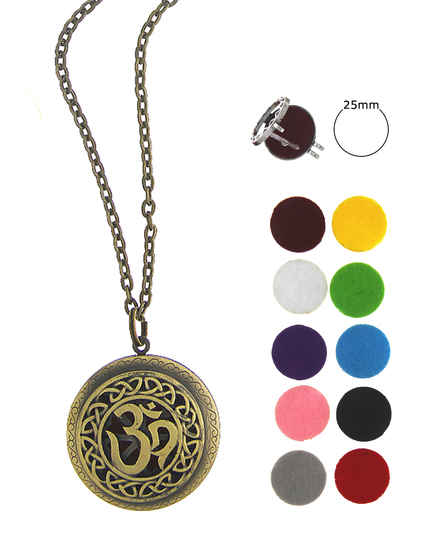 Gold Finish Very Classy Designer Oil Aromatherapy Pendant Set