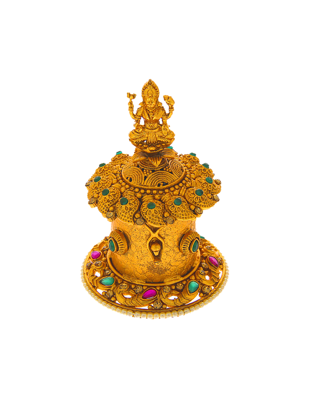 Matte Gold Finish Fancy Adorable Sindoor Dabbi