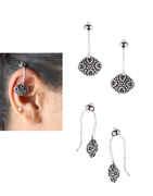 Silver Finish Ear Cuff Bugadi For Western Wear