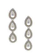 Silver Finish Designer Long Western Earring