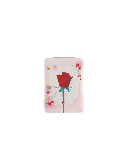 Pink Colour Rose Design Mirror
