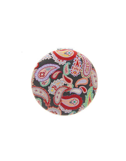 Multi Colour Black Tone Floral Mirror